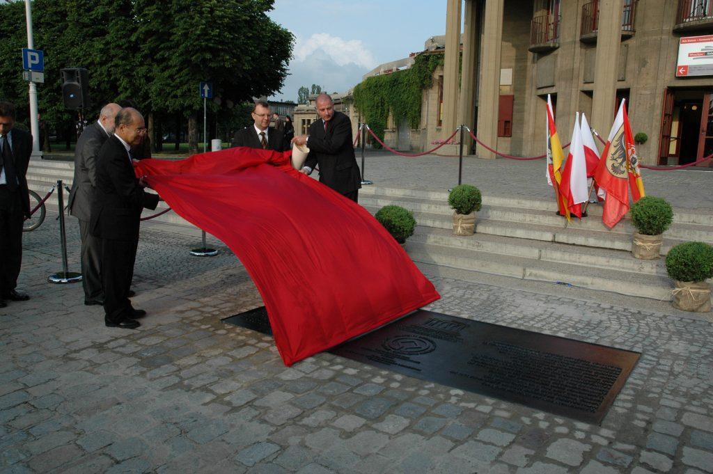 Odsłonięcie tablicy pamiątkowej UNESCO