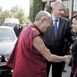 Wizyta Dalai Lamy XIV weWrocawiu. Spotkanie zwrocławianami wHali Stulecia