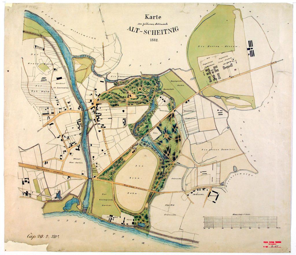 Plan Starych Szczytnik z1882 roku