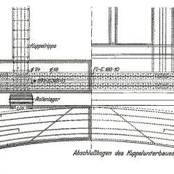 Rysunek projektowy kopuły Hali Stulecia