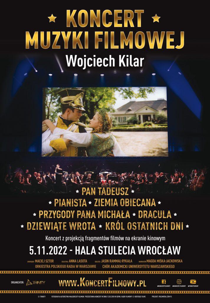 Plakat Koncertu Muzyki Filmowej - Wojciech Kilar